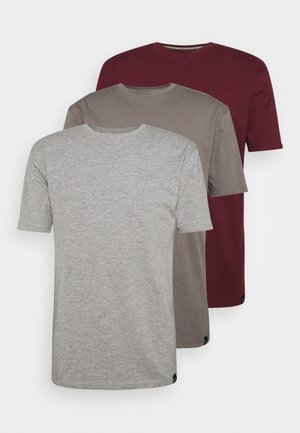 CORE 3 PACK - T-shirt basic - steel grey, burg, grey marl