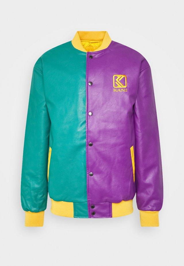 OG COLLEGE JACKET UNISEX - Faux leather jacket - purple