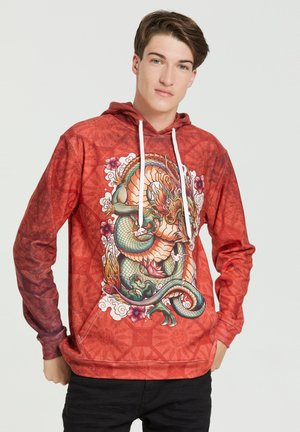 CHINESE DRAGON  - Hoodie - red