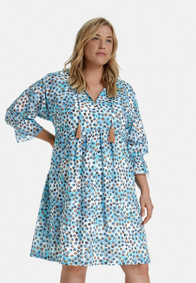 Korte jurk - cameo blue gemustert