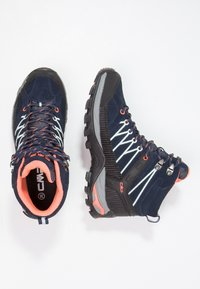CMP - RIGEL MID TREKKING SHOE WP - Outdoorschoenen - blue/giada/peach - 2