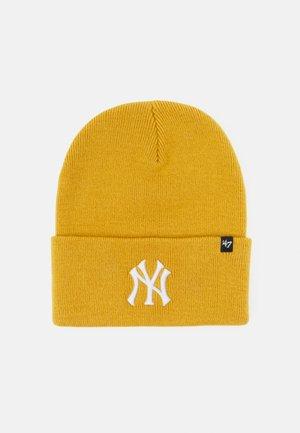 MLB NEW YORK YANKEES HAYMAKER CUFF UNISEX - Beanie - wheat