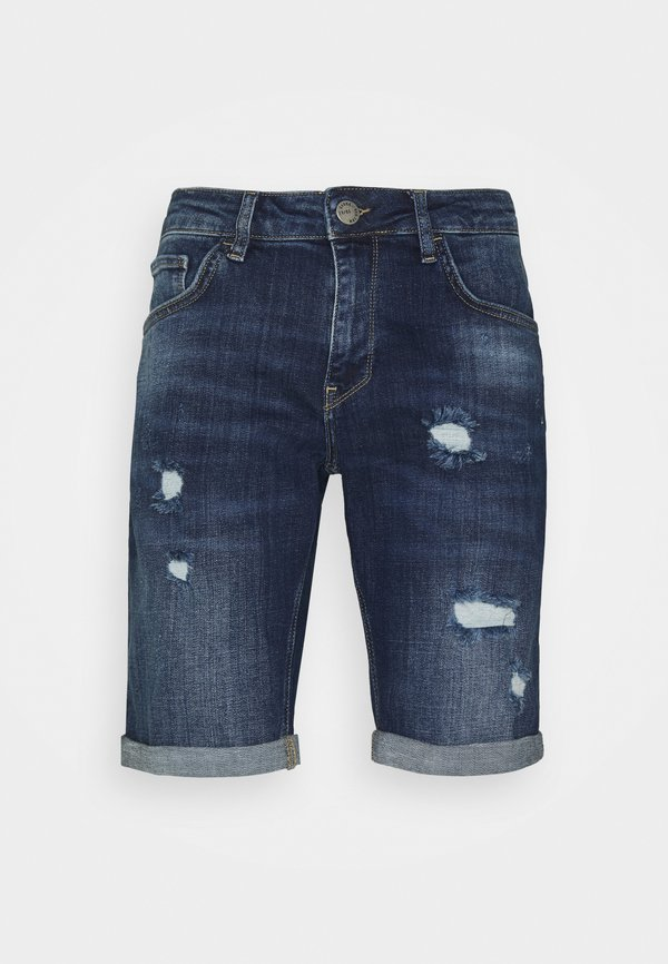 Gabba Szorty jeansowe - dark blue denim/ciemnoniebieski Odzież Męska YCYF