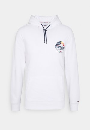 MOUNTAIN GRAPHIC HOODIE UNISEX - Hoodie - white