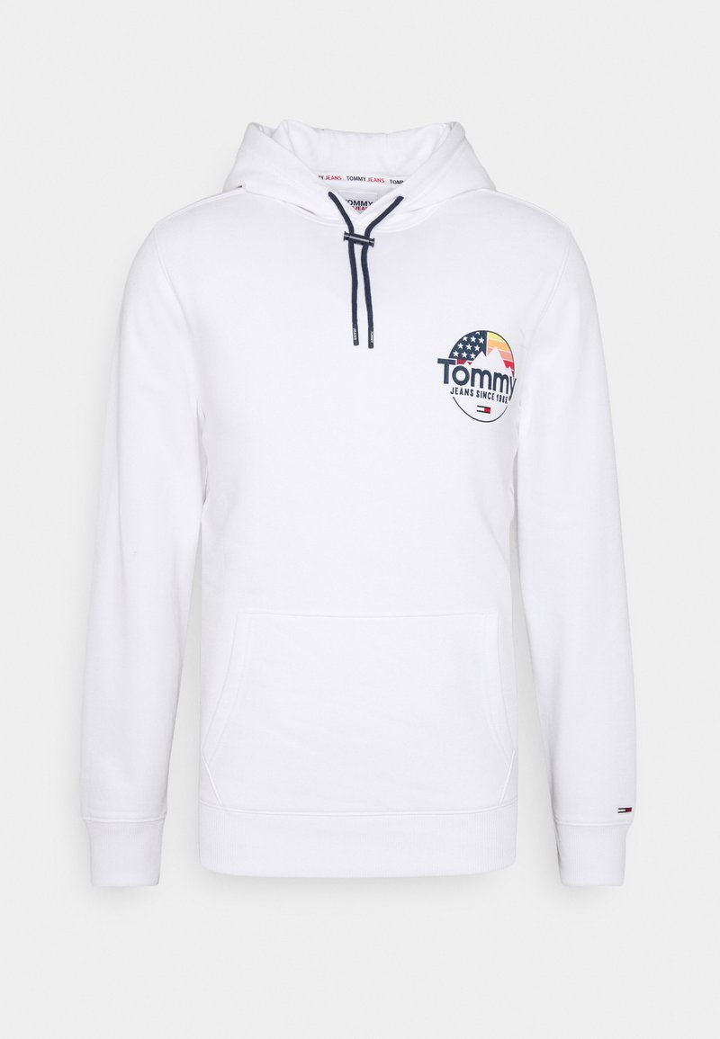 Tommy Jeans - MOUNTAIN GRAPHIC HOODIE UNISEX - Sweat à capuche - white
