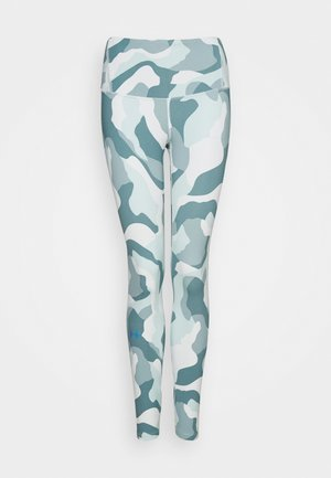 RUSH CAMO LEGGING - Tights - seaglass blue