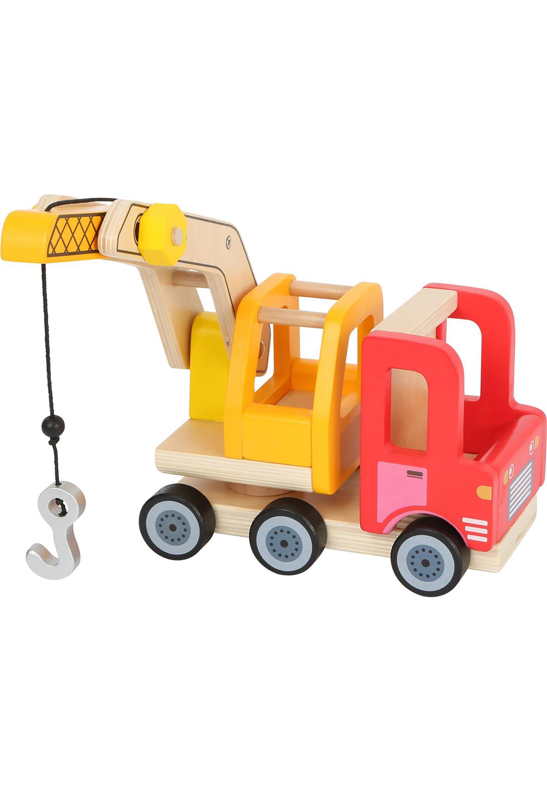 Kinder FAHRZEUGE KRANWAGEN - Holzspielzeug