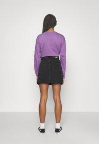 Dr.Denim - ECHO SKIRT - Mini skirt - charcoal black - 2