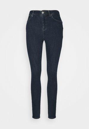 ONLPOWER MID PUSH UP - Skinny džíny - dark blue denim