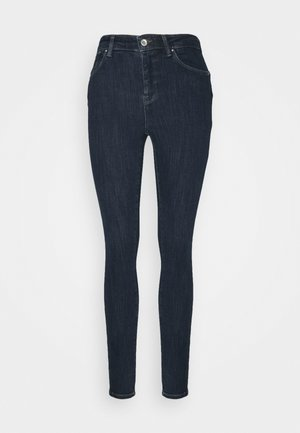 ONLPOWER MID PUSH UP - Jeans Skinny Fit - dark blue denim