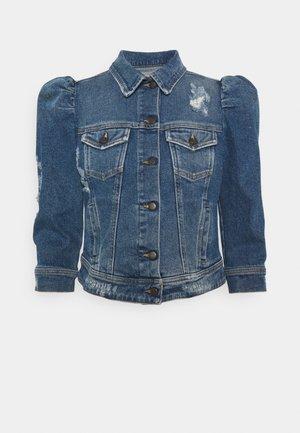 ADA JACKET - Džínová bunda - worn vintage blue