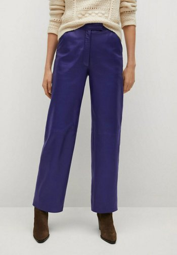 RISK-I - Leather trousers - lila