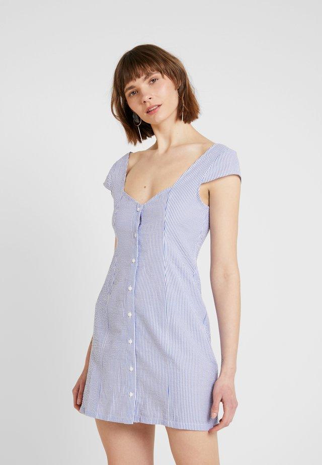 SWEETHEART MINI DRESS - Košilové šaty - blue