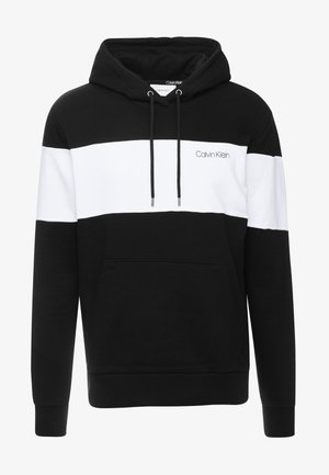 COLOR BLOCK LOGO HOODIE - Huppari - black
