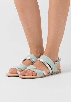 LEATHER - Sandalias - mint/silver