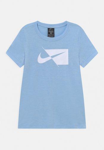 Print T-shirt - psychic blue/white