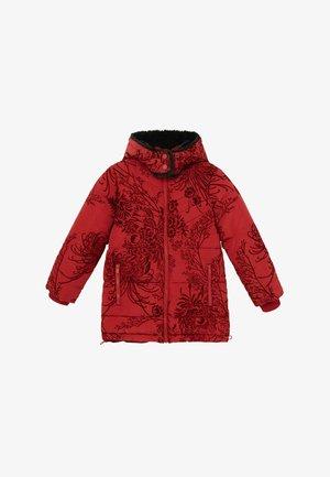 SLIM FLOWERS - Winter jacket - red