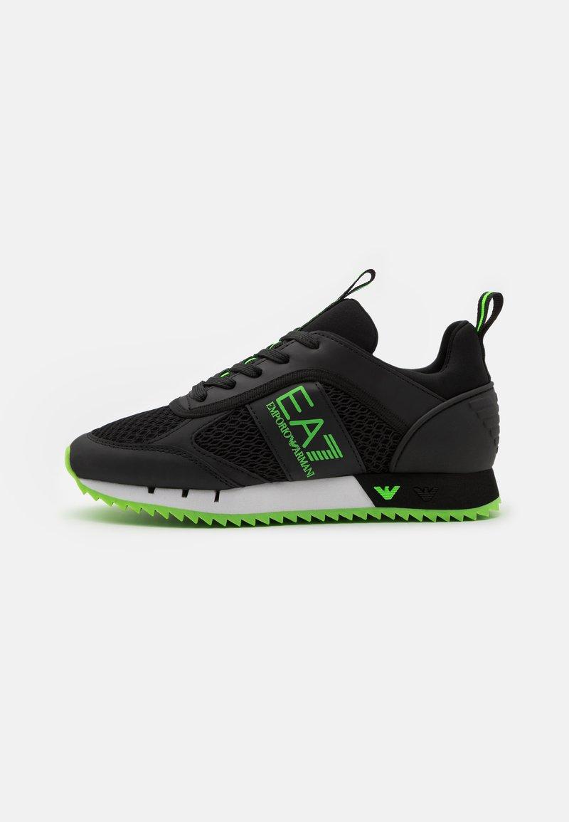 EA7 Emporio Armani - UNISEX - Trainers - black/neon green