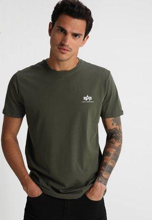 T-shirts med print - dark oliv