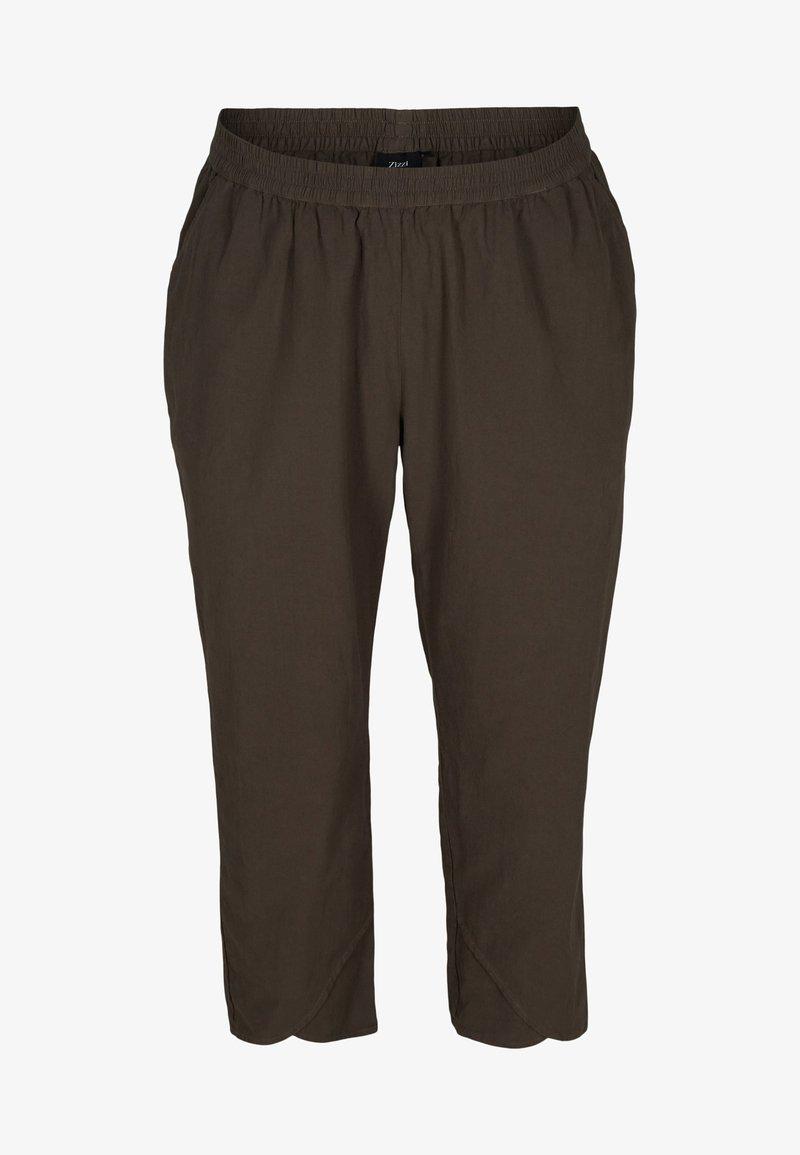 Zizzi - Trousers - khaki green