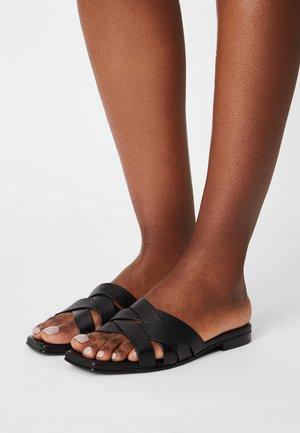 SLFASHLEY SLIDER - Heeled mules - black
