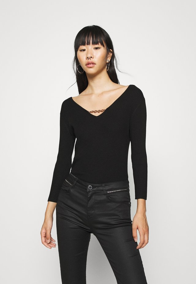 MALTE - Pullover - noir