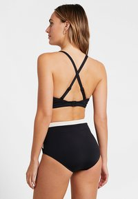 Seafolly - POPBLOCK HIGH WAISTED PANT - Bikinibroekje - black - 2