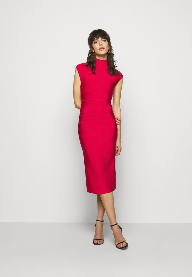 HALTER NECK DRESS - Shift dress - rio red