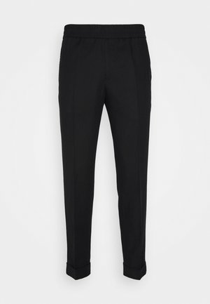 TERRY CROPPED SLACKS - Trousers - black