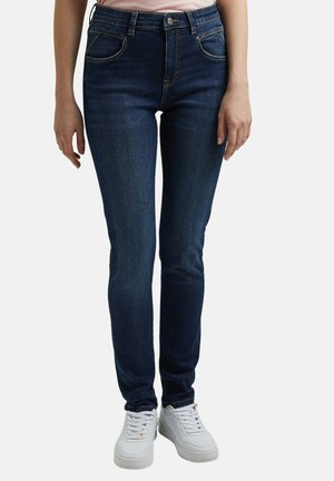 MIT WASHED-EFFEKTEN - Slim fit jeans - blue dark washed
