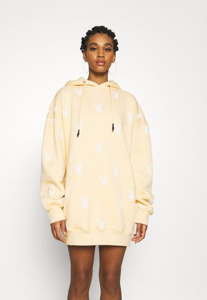 PLAYBOY BUNNY HOODY DRESS - Korte jurk - stone