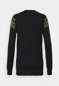 Wallis - LEAF EMBELLISHED JUMPER - Jumper - black - 1