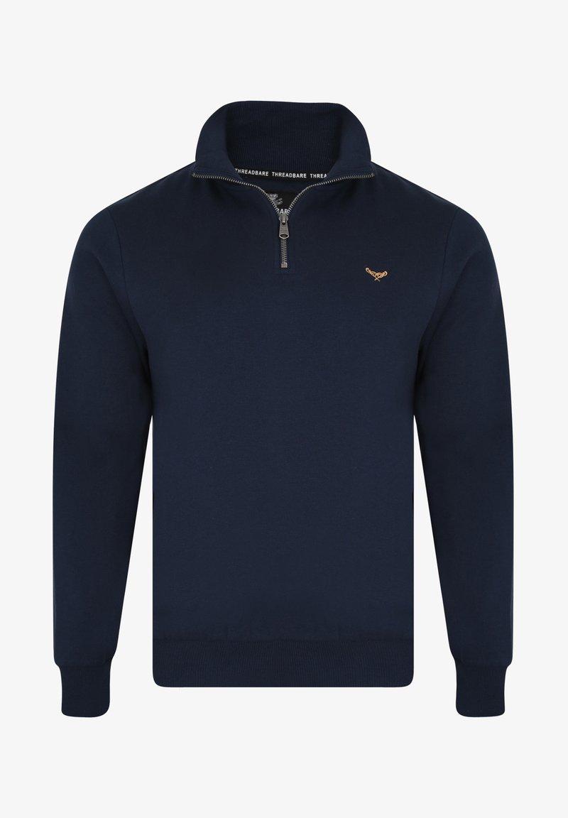 Threadbare MIT REISSVERSCHLUSS 1/4 ZIP PATRICK - Sweatshirt - dunkelgrau U5cWbl