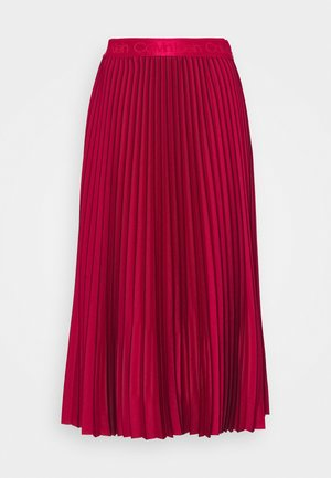 SUNRAY PLEAT TWO TONE MIDI SKIRT - Pleated skirt - red