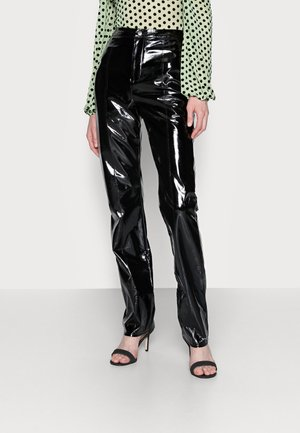 SHINY TROUSER - Bukser - black