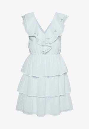 SHEER FRILL DOBBY DRESS - Cocktail dress / Party dress - dusty blue