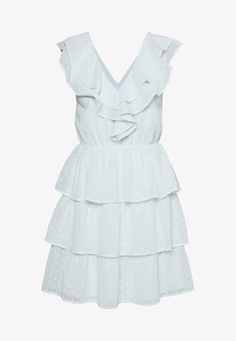 Nly by Nelly - SHEER FRILL DOBBY DRESS - Cocktail dress / Party dress - dusty blue
