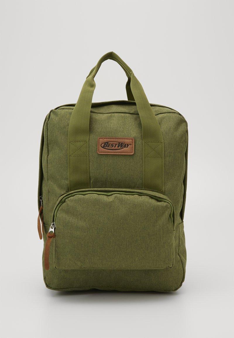 Fabrizio - BEST WAY BACKPACK - Školní taška - olive green