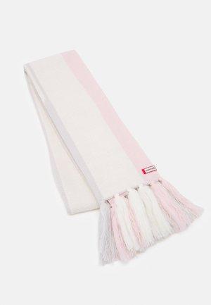 BRANDED STRIPE SCARF UNISEX - Scarf - salt pink