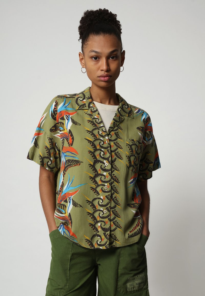 Napapijri - GELOR - Button-down blouse - multi flower
