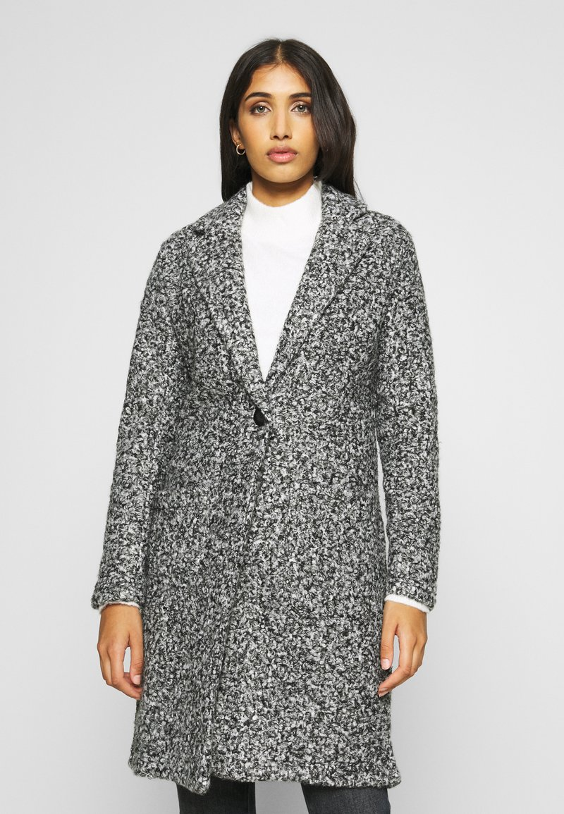 JDY - JDYLOOPY COATIGAN - Classic coat - salt/pepper
