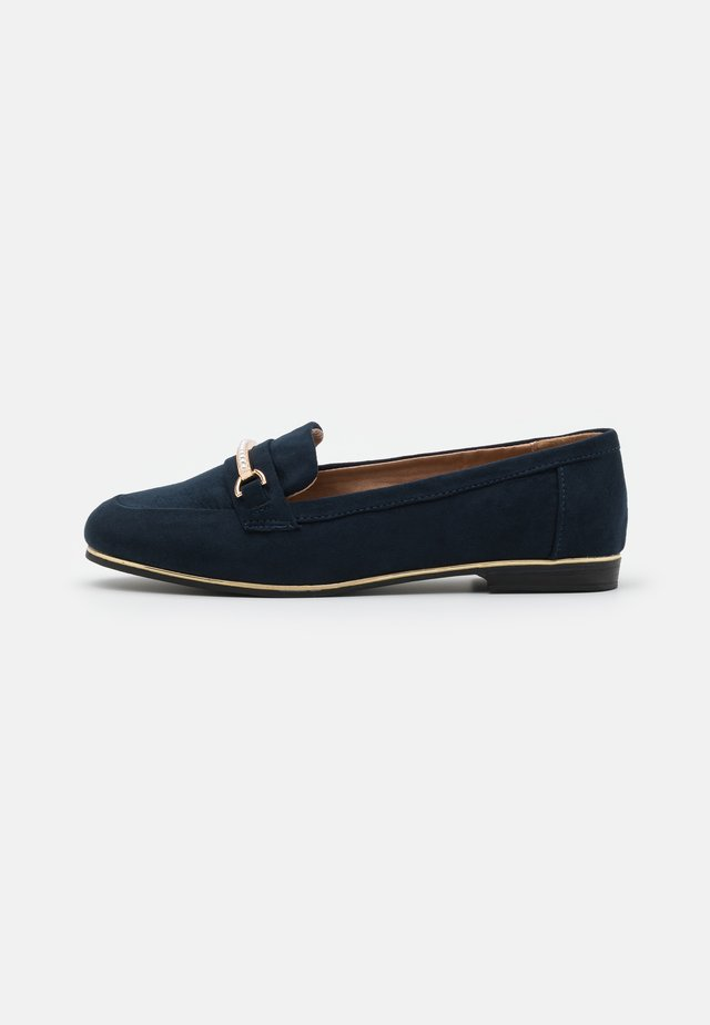 WIDE FIT LEILA SNAFFLE LOAFER - Slip-ons - navy