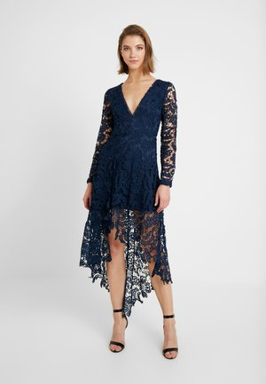 FRENCH ROSE HIGH LOW DRESS - Vestito elegante - navy