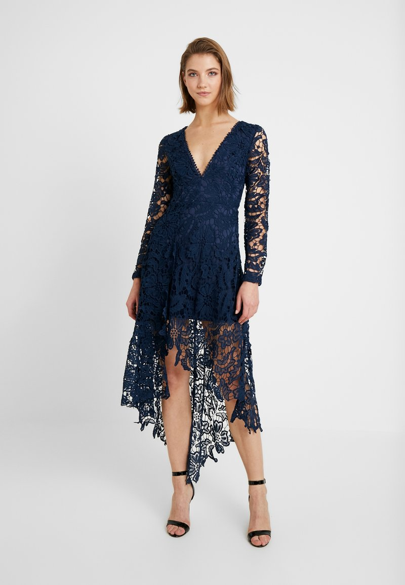 Love Triangle - FRENCH ROSE HIGH LOW DRESS - Cocktail dress / Party dress - navy