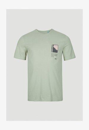 Print T-shirt - olive leaves