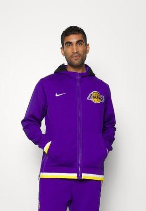 NBA LOS ANGELES LAKERS SHOWTIME FULL ZIP HOODIE - Club wear - field purple/white/amarillo