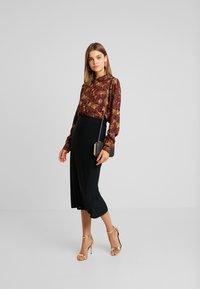 Vila - VIOPENING PEYTON - Button-down blouse - navy blazer/kecthup - 1
