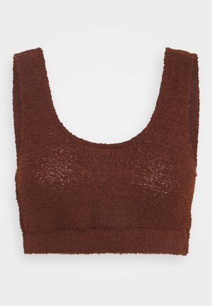 FLUFFY BRALET - Top - mocha