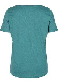 Zizzi - Print T-shirt - pacific mel. - 5