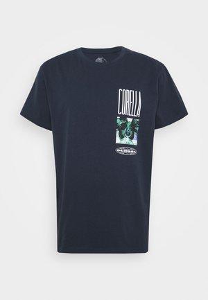 UNISEX  ORCHID DESIGN - Print T-shirt - navy